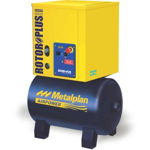 Compressor Parafuso Rotor Plus 4HP 10BAR Metalplan