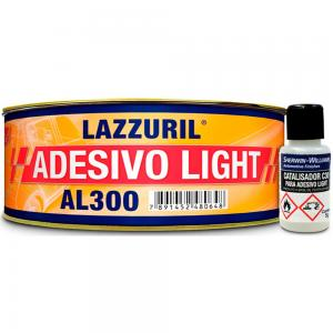Massa Poliester Light AL300 495g + Catalizador Lazzuril