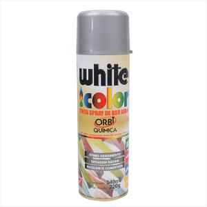 Tinta White Color Spray 340ml Alumínio 6695 Orbi Química