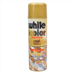 Tinta White Color Spray 340ml Ouro 8664 Orbi Química
