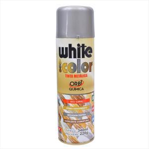 Tinta White Color Spray 340ml Prata 8666 Orbi Química