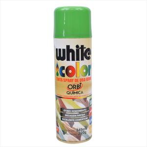 Tinta White Color Spray 340ml Verde 6697 Orbi Química