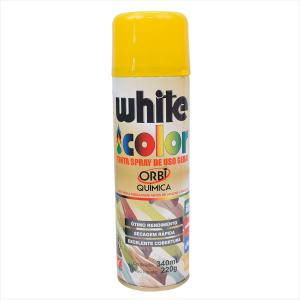 Tinta White Color Spray 340ml amarelo 6696 Orbi Química