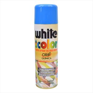 Tinta White Color Spray 340ml Azul 6698 Orbi Química