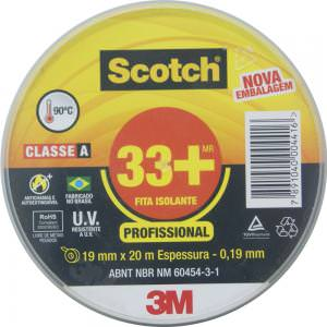 Fita Isolante Scoth 33+ 19x20m - 3M