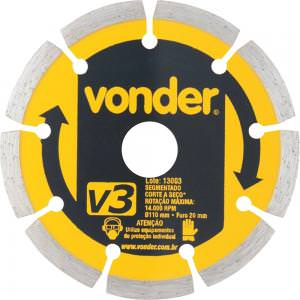 Disco Diamantado 110mm V3 - Vonder