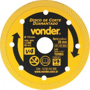Disco Diamantado 110mm V4 - Vonder