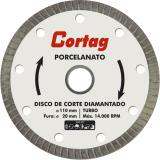 Disco de Corte Diamantado Porcelanato 110mm Cortag
