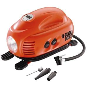 Compressor de Ar Portátil Digital 12V ASI200-LA Black+Decker