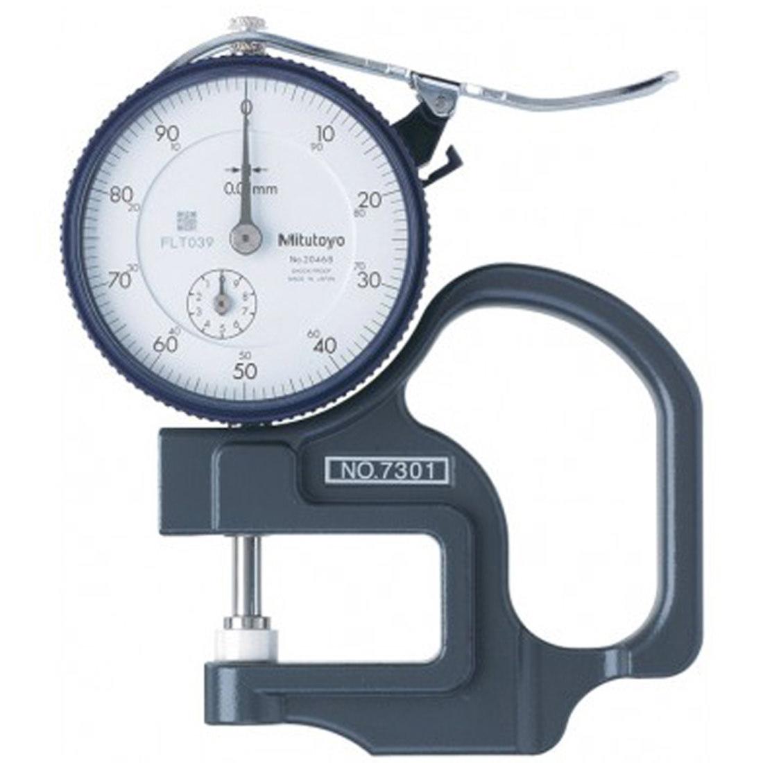 Medidor Espessura Analógico com Relógio 0 a 10mm Mitutoyo